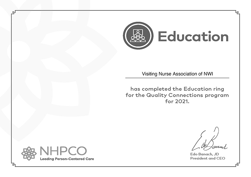 NHPCO education certificate